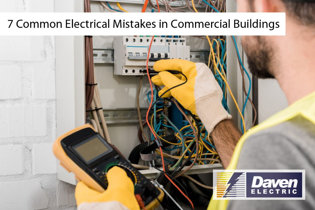 Do you know the potential consequences of electrical mistakes in commercial buildings? If not, then it's about time that you find out. Many common mistakes can be made while working with electricity in commercial buildings. These mistakes can lead to fires and other disasters, which is why our professional electricians want to make sure that you avoid them on your next project. In this blog post, we will discuss seven of the most common electrical mistakes in commercial buildings so that you don't have to learn from trial and error!  1. Not following National Electrical Code (NEC) guidelines This is a big one that causes all sorts of problems. The National Electrical Code (NEC) sets the standards for electrical safety in homes and commercial buildings. Still, many people don't follow them properly when they create their wiring plans or install new circuits. This can lead to everything from fire hazards to overloading outlets with too much power.  The NEC establishes guidelines for building codes such as these:  Wiring installation requirement - wire sizing ensures you have enough wire depending on how close your circuit might be running next to others and what kind of load it may need to carry!  Grounding requirements - it is an essential part of any building's safe circuitry design. If your commercial electrician is not grounding wires correctly, there are severe risks like overloads or short circuits. Some features need to be grounded as well as other things. Make sure your plan includes grounding when necessary, so there aren't any mistakes later on.  Circuit protection - the NEC states that all wire has to be adequately insulated, with materials like rubber, plastic, and porcelain; you can't just use metal wires without a protective coating!   2. Miscalculating power load Power load is the total amount of power that a building will be using at any given time. This can include everything from lights to appliances in your kitchen and office spaces. When your comme